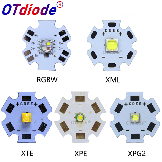 1//10Pcs Cree XPE 3W Q5 Cool Warm White High Power LED Bulb Chip 12//14//16//20mm