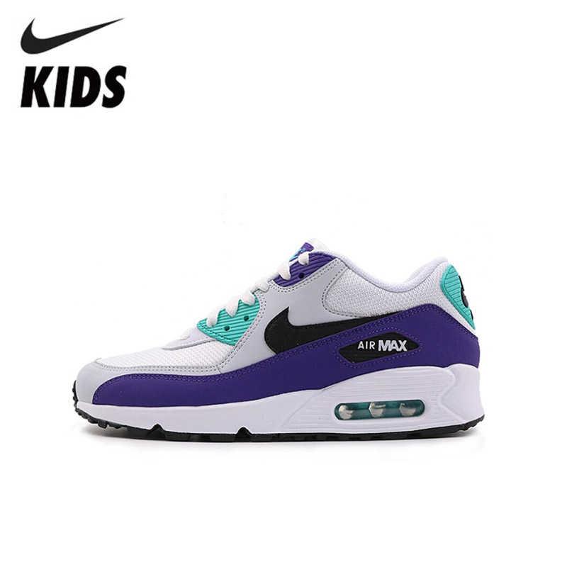 Nike Air Max 90 Originale Nuovo Capretti di Arrivo di Scarpe Cuscino D'aria scarpe Da Tennis di Sport Dei Bambini Runningg Scarpe leggero # AJ1285-103