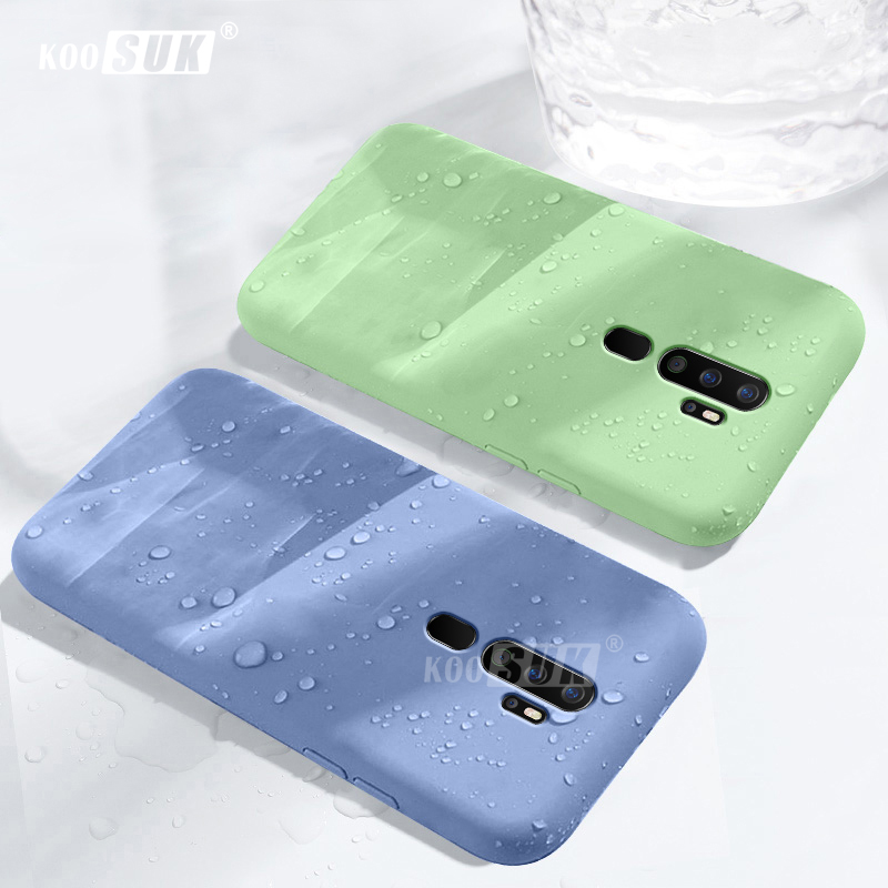 <font><b>OPPO</b></font> A9 2020 A11X Phone <font><b>Case</b></font> Smooth <font><b>Liquid</b></font> Soft Silicone Back <font><b>Cover</b></font> For <font><b>OPPO</b></font> A9 A5 2020 Ultra thin Flocking Protective Casing image