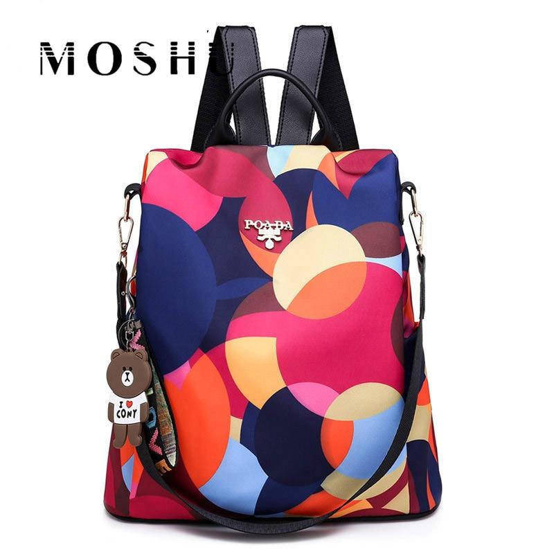 Fashion Women Backpacks High Quality Waterproof Oxford Backpack Female Anti Theft School Bags Women Large Capacity Backpack