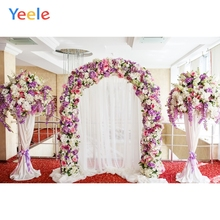 Yeele Wedding Ceremony Arch Flowers Door Curtains Photography Backdrops Personalized Photographic Backgrounds For Photo Studio