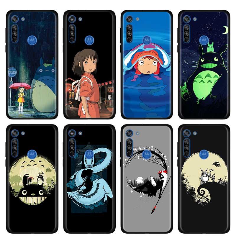 Cute Totoro Spirited Away Ghibli Anime Thin Case For Motorola G Stylus G8 Power Plus Play One Hyper G Power E6S Edge Plus Shell