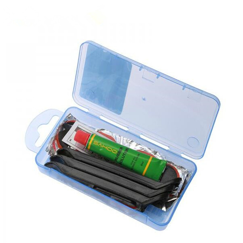 Bike Bicycle Flat Tire Repair Kit Tool Set Kit Patch Rubber Portable Fetal Best Quality Cycling 2019 New