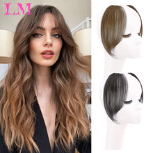 Air-Bangs Blunt Fake Clip-In Synthetic-Hair Women Liangmo for High-Temperature Fiber