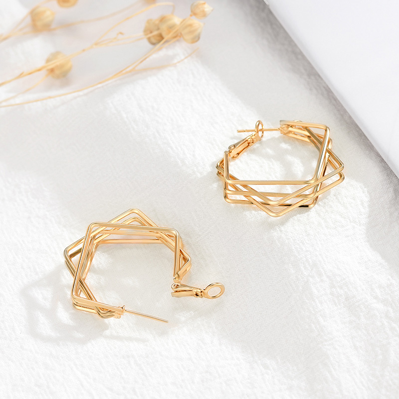 Fashion Metal Geometric Earrings Lightweight Dangle Earrings Fashion Minimalist Jewelry For Women Party Shopping Supplies New