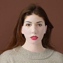 Máscara de látex completa para o dia das bruxas cosplay com pescoço cabeça cheia enrugamento assustador feminino máscara facial máscara de látex cosplay festa adereços máscaras