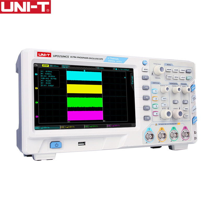 UNI-T Digital Storage <font><b>Oscilloscope</b></font> 1GSa <font><b>100MHz</b></font> Bandwidth 2 /4 Channels 7