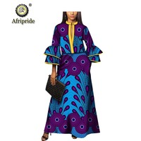 African dresses for women Afripride dashiki bazin riche ankara print casual dress spring&autumn pure cotton dress S1825069