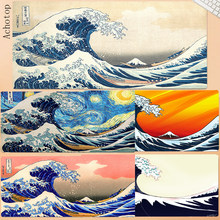 900x400mm Great Wave Off Art Large Size Mouse Pad Natural Rubber PC Computer Gaming Mousepad Desk Mat Locking Edge for CS GO LOL