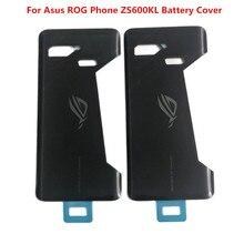 """Oryginalna nowa 6.0 """"szklana obudowa tylna dla Asus ROG telefon ZS600KL pokrywa baterii tylna skrzynka dla Asus Z01QD część zamienna"""
