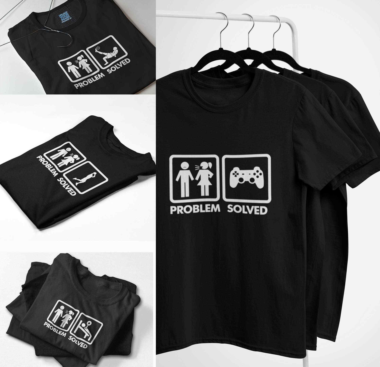 Probleem Opgelost T Shirt Grappige Humor Spoof Geïnspireerd Ontwerp Korte Mouwen 100% Katoen Ademend O-hals Mode Vrouw Tshirt Eu Size