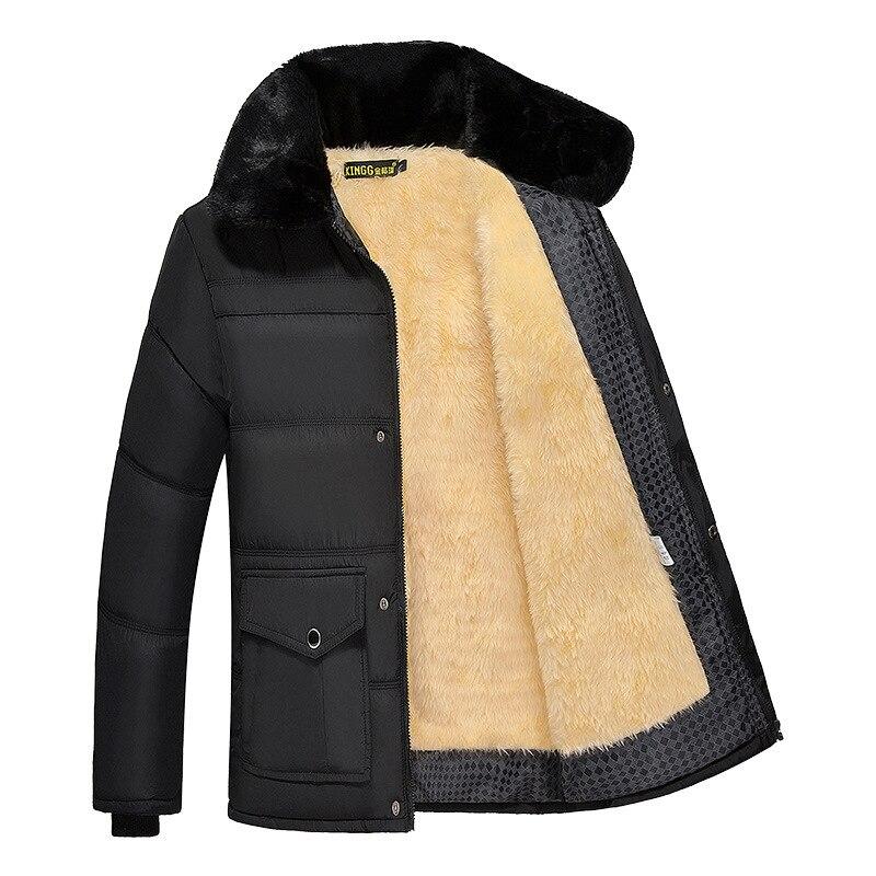 Winter Jacket And Coat Men Thick Warm Fur Hooded Parkas Jacket Men's Outwear Windbreaker Brand Casual Thicken Streetwear ,GA503