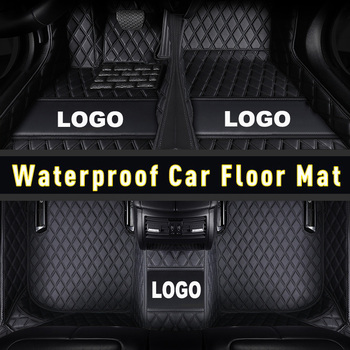 CARFUNNY Waterproof leather car floor mats for Nissan Juke Qashqai Sylphy Sunny Cefiro X-TRAIL 2000-2019 new car accessories image