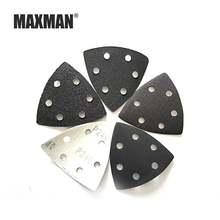 Наждачная бумага maxman с 6 отверстиями треугольная самоклеящаяся