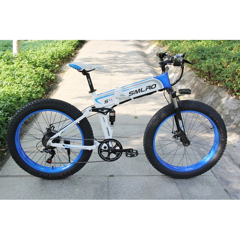 s11F 26inch Wheel snow electric bicycle 350W/500W Aluminum alloy Folding Suspension Frame electric bike e bike 2