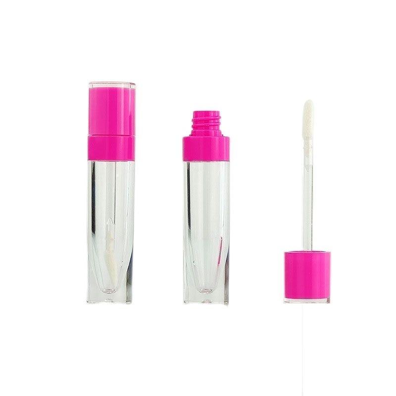 Круглая прозрачная туба для блеска для губ, ярко-розовая, черная, белая, 6 мл, 25 шт., пустой косметический контейнер, туба для блеска для губ с п...
