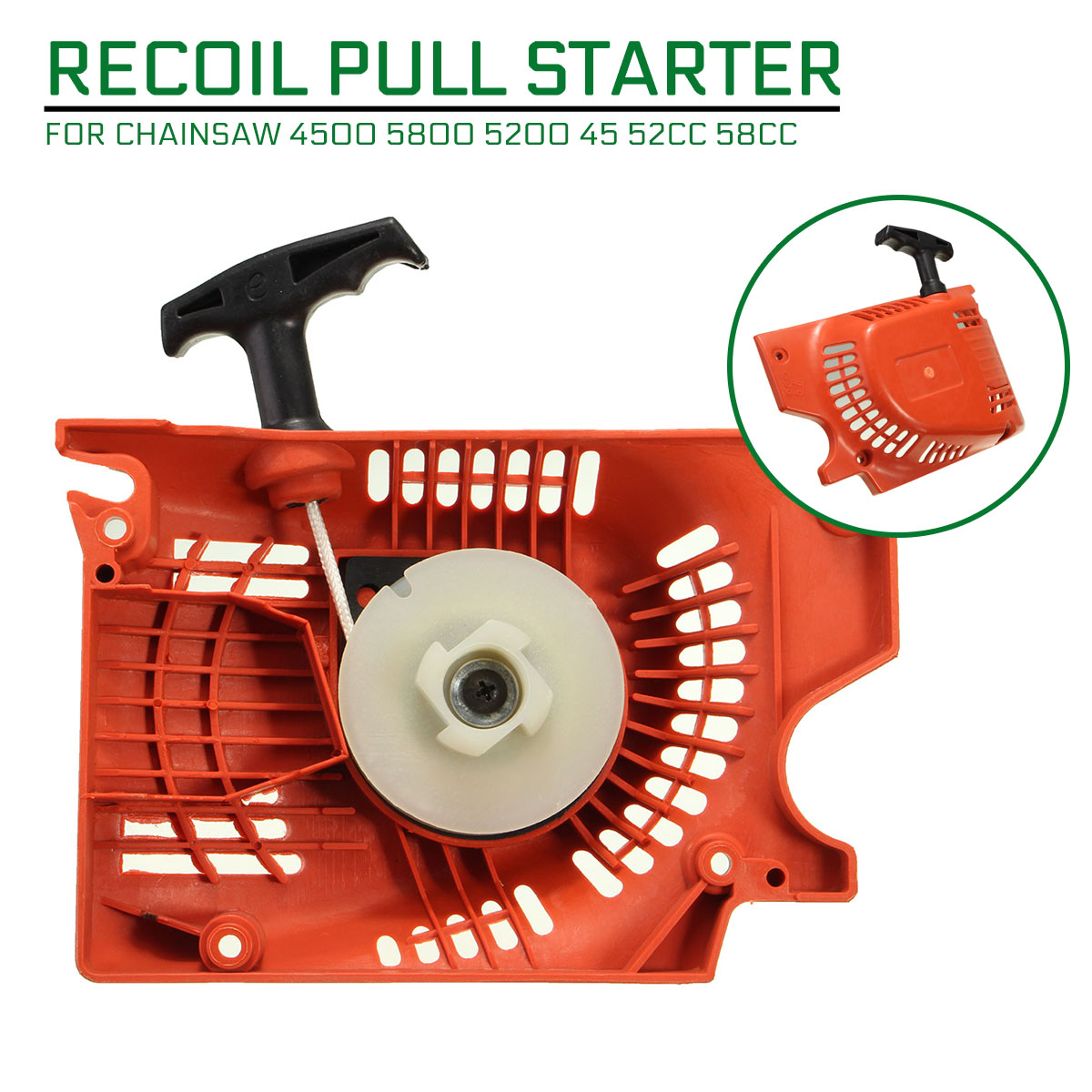 Recoil Pull Starter For Chinese Chainsaw 4500 5800 5200 45 52cc 58cc Red Raptor