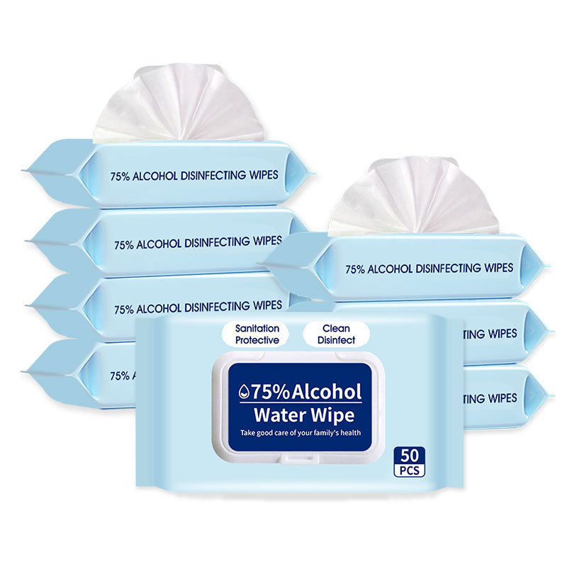 Disinfect Wet Wipes 50pcs Disposable Germicidal Office Home 75% Alcohol Increase Non-woven Fabric Disinfection Remove Germs