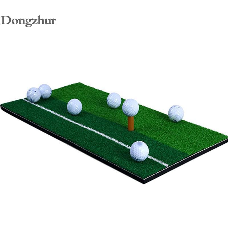 Green Indoor Golf Mat Training Hitting Pad Practice Rubber Grass Mat Grassroots  Golf Training Tools Backyard 30x60cm