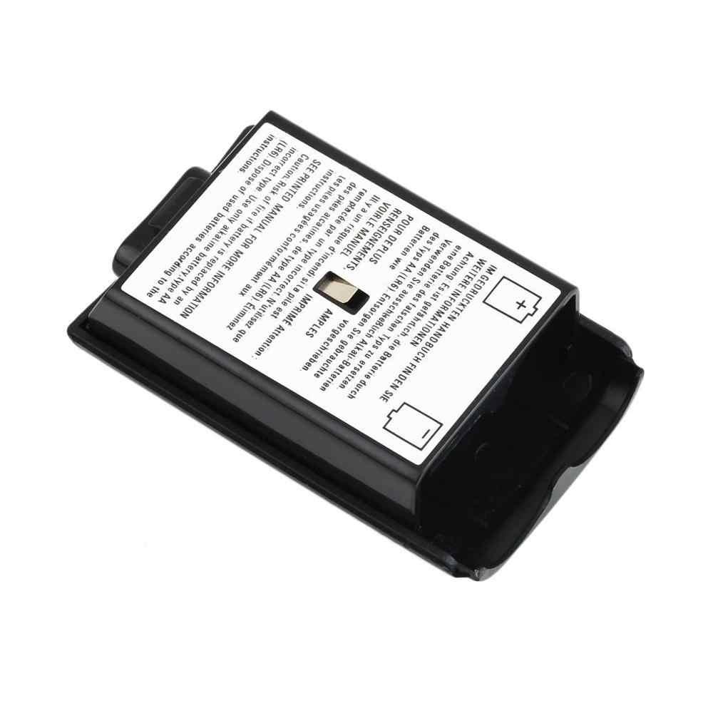 Baru Universal Battery Pack Cover Shell Perisai Case Kit untuk Xbox 360 Kontroler Nirkabel Kualitas Tinggi Hitam Cover Baterai