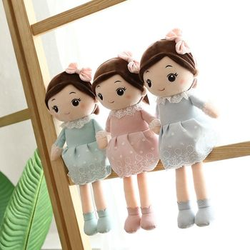 45cm Cute Cartoon Princess Doll Plush Toy Stuffed Soft Lovely Appease Toys Baby Accompany Doll Kids Birthday Xmas Gifts fancytrader large plush bunny doll lovely soft stuffed cartoon rabbit kids toys gifts pink purple for chilren 100cm