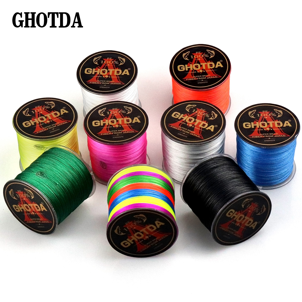 GHOTDA 9 Colors Fishing Line 8 Strands Carp Fishing Cord 150m 100% PE Pesca Braided Line Wire Peche Strong 22-78LB Fishing