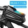 Newboler bolsa de ciclismo à prova de chuva, estojo para celular, touch screen, mtb, acessórios de bicicleta, para cano superior, refletor 11