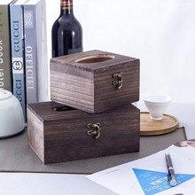 Ретро деревянная коробка для салфеток, чехол для туалетной бумаги, держатель для салфеток, домашний автомобильный декор, Прямая поставка