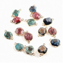 High Quality Natural Stone Connectors Pendants Charms for Jewelry Making Necklace Pendants Fine Jewelry Gifts for Women