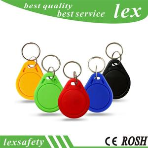 100pcs Lot IC Proximity Keychain 125Khz RFID Smart Tags Keys Abs Keyfobs T5557 / T5577 Rewritable Abs Keytag With ISO11785
