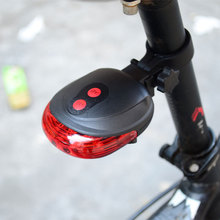 Bicycle riding light waterproof 5 LED 2 laser 3 mode bicycle tail safety warning rear lig