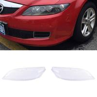 New Car Headlight Glass Cover Clear Automobile Left Right Headlamp Head Light Lens Covers Styling For Mazda 6 2003-2008 TSLM1 4