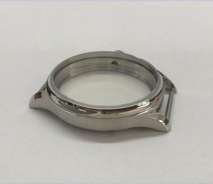 Image 3 - Parnis 44mm 316l caixa de relógio aço inoxidável caber 6497/6498 movimento vento mão mecânica 02