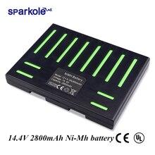 (Para QQ5) Sparkole 14,4 V 2800mAh NIMH batería para Cleanmate QQ5 Robot de limpieza al vacío (aprobado por CE & UL)