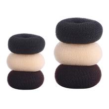 Аксессуары для волос 3 размера, синтетические пончики, повязка на голову, повязка для волос с шариками, парикмахерские инструменты для женщи...