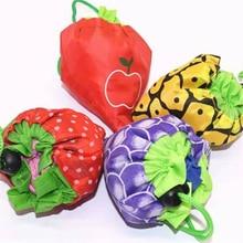 все цены на cute Fruit Storage Handbag Foldable Shopping Bags Reusable Folding Grocery Nylon Bag Large Capacity Home Eco Tote Pouch 1pcs онлайн