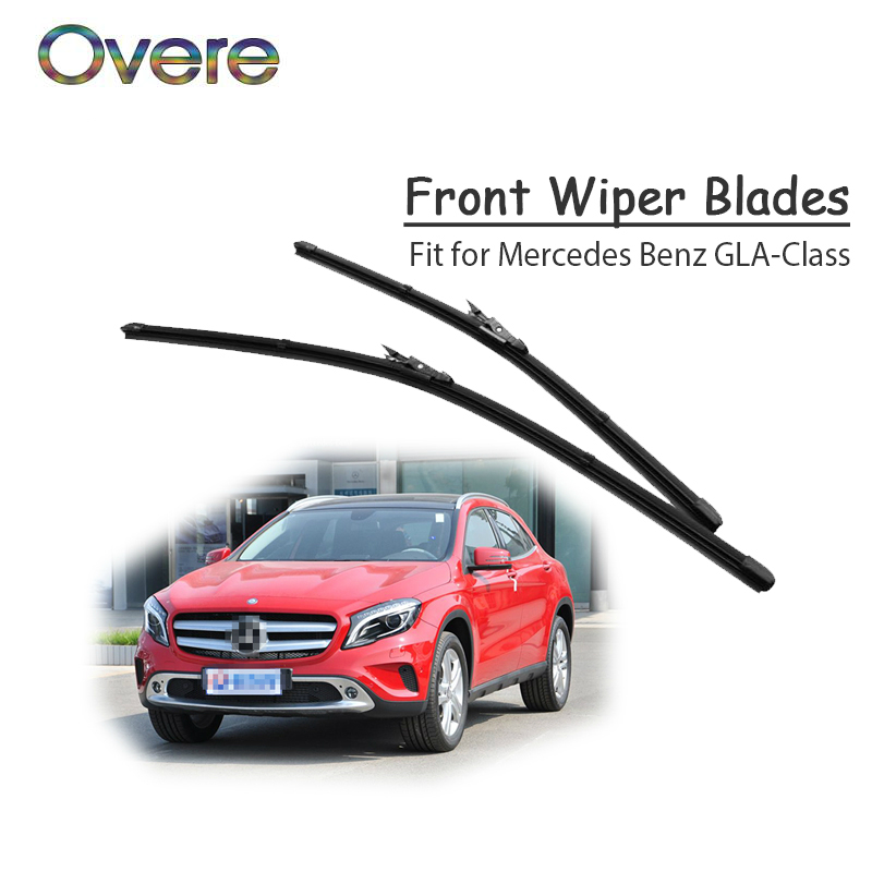 1Set Rubber Car Front Wiper Blade Kit For <font><b>Mercedes</b></font> Benz <font><b>GLA</b></font> Class X156 <font><b>GLA</b></font> 180 200 250 <font><b>45</b></font> <font><b>AMG</b></font> CDI Original Accessories image