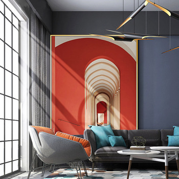 Hand-painted Oil Painting Abstract Mural Building Villa Entrance Hallway Painting Modern Minimalist Living Room Decorative Paint