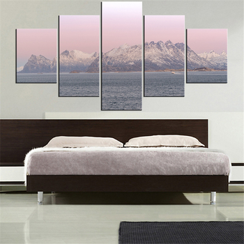 5 Pieces set Modern Canvas norway-2071398 Painting Wall Art The Picture For Home Decoration print Giclee Artwork For Wall Decor