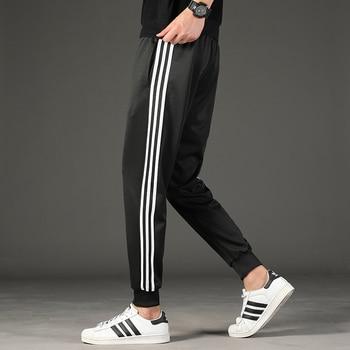 Spring Autumn Streetwear Trousers Men's Sweatpants M-4XL Casual Large Size Pants Elastic Solid Trend Sports Joggers,ZA349