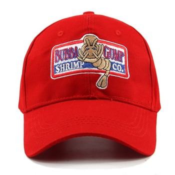 icon designe стул chameleo once gump 1994 BUBBA GUMP SHRIMP Baseball cap men women Sport hats Summer Cap Embroidered casual Hat Forrest Gump caps Costume wholesale