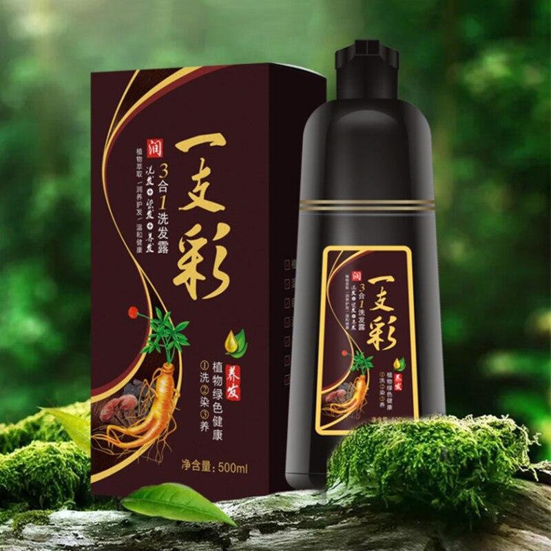 Tintura de Cabelo Cuidados de Longa Duração para Homens Salão de Beleza em Casa Shampoo Beleza Nutre Feminino Mh88 Cor