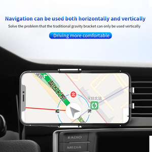 Image 4 - AQO Car Phone Holder Wireless Charger Automatic Inductive Phone Car Holder For iphone xiaomi huawei Samsung Mobile Stand EDZ 03
