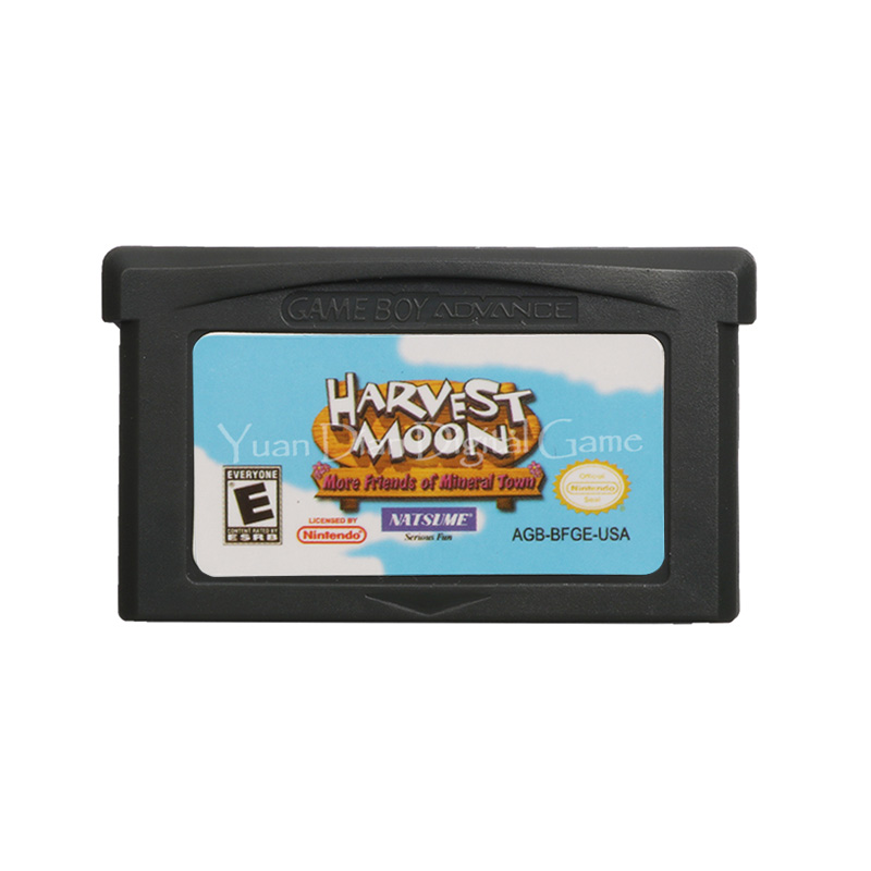 For Nintendo GBA Video Game Cartridge Console Card Harvest Moon More Friends of Mineral Town English Language US Version image