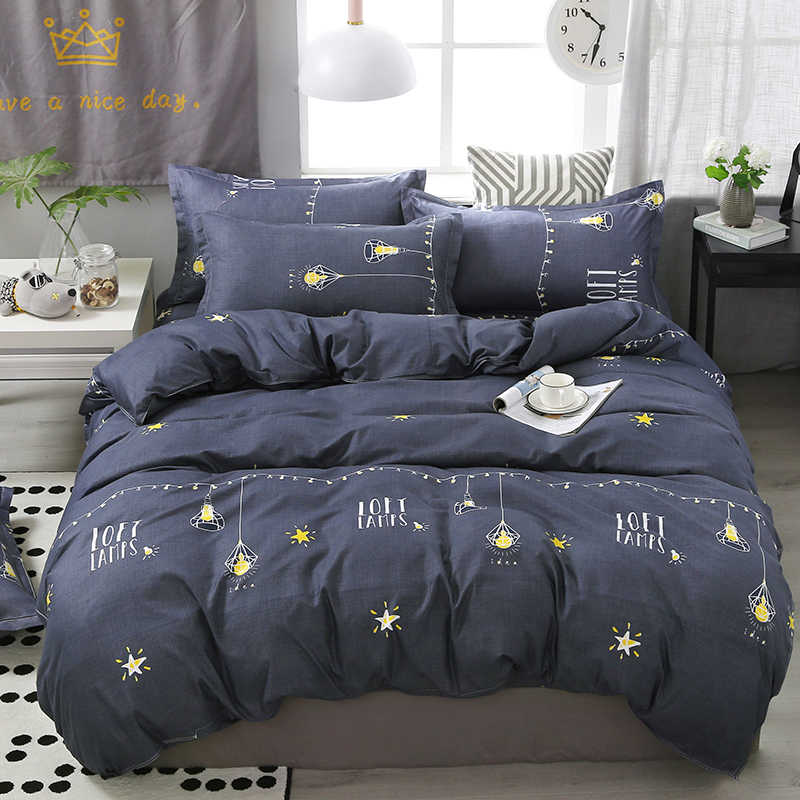 New Family 3D Square bedclothes flat bed sheet Bedding Set Soft Comfortable for Home Duvet Cover Set Twin Full Queen King Size