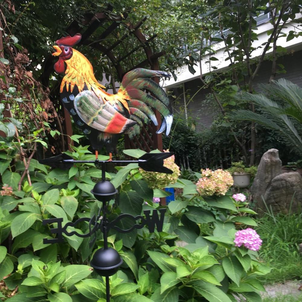 Metal Iron Rooster Cock Weathervane Weather Vane Lawn Garden Home Decoration