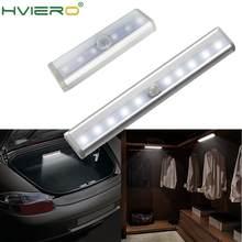 Lumière à détecteur de mouvement 6/10 LED s PIR, utilisable comme veilleuse, éclairage à mettre dans ses placards, son armoire, son lit, ses escaliers ou sa cuisine