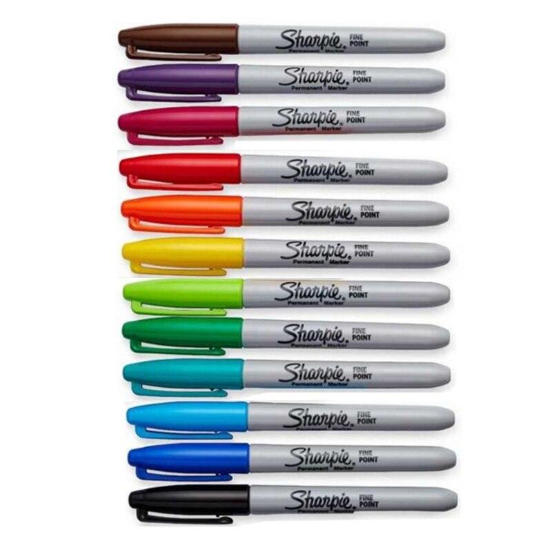 12pcs/Box Sharpie 3000 Permanent Marker Pen Set 1mm Round Tip Waterproof Paint Marker Colored Paint Pens Industry Art Supplies