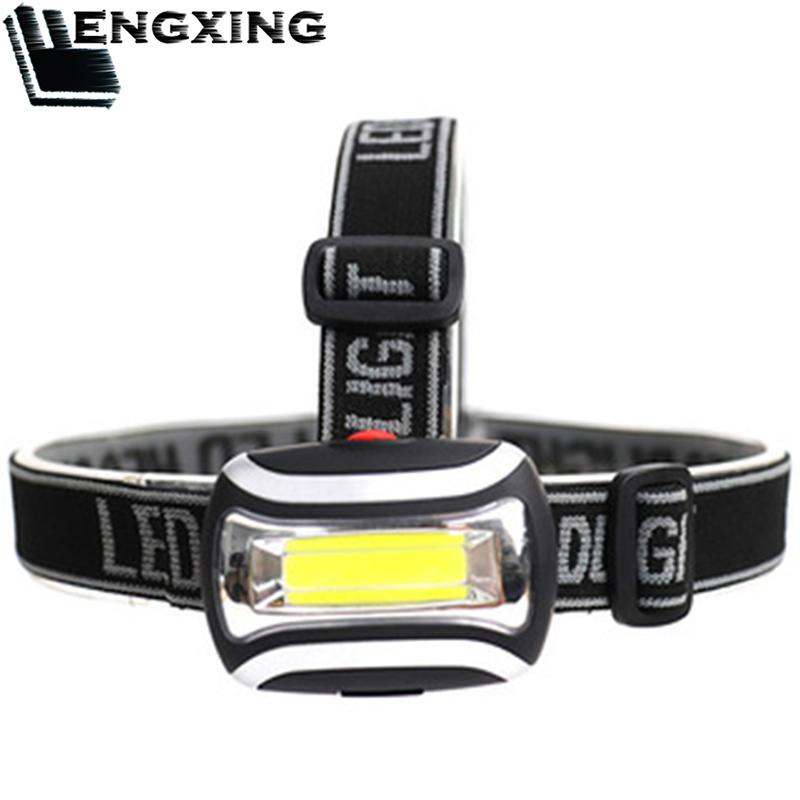 Mini COB LED Headlamp 3 Modes Waterproof Head Light Lamp Torch Lanterna 40g Use AAA Battery For Comping Shiping Free Shipping