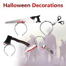 Ужас одежда Нож Хэллоуин Реквизит Trick Забавные террористов игрушки для Хэллоуина День Дурака повязка вечерние поставки